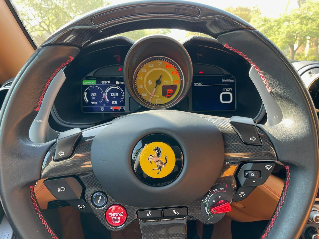 2019 Ferrari Portofino steering wheel